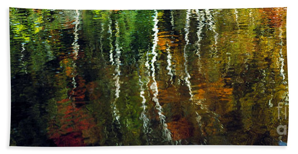 Autumn Bath Sheet featuring the photograph Autumn Reflections 1 by Mike Nellums