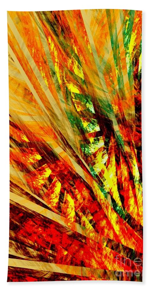 Autumn Bath Sheet featuring the digital art Autumn Sunshine Series-2 by Klara Acel