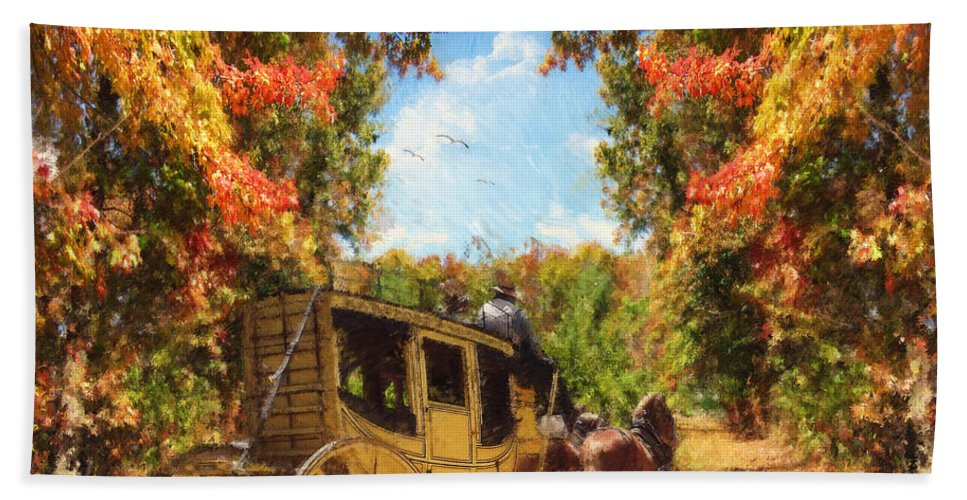 Autumn Bath Towel featuring the photograph Autumn's Essence by Lourry Legarde