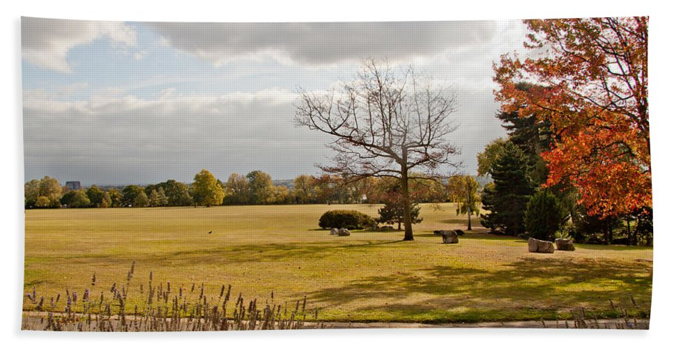 Avery Hill Bath Sheet featuring the photograph Avery Hill Parkland by Dawn OConnor