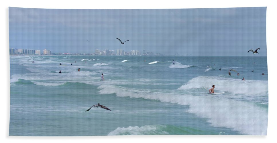 Beach Hand Towel featuring the photograph Awesome Day At The Beach by Deborah Benoit