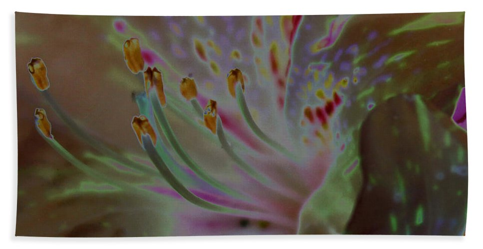 Flower Hand Towel featuring the photograph Azalea Rock by Carolyn Stagger Cokley