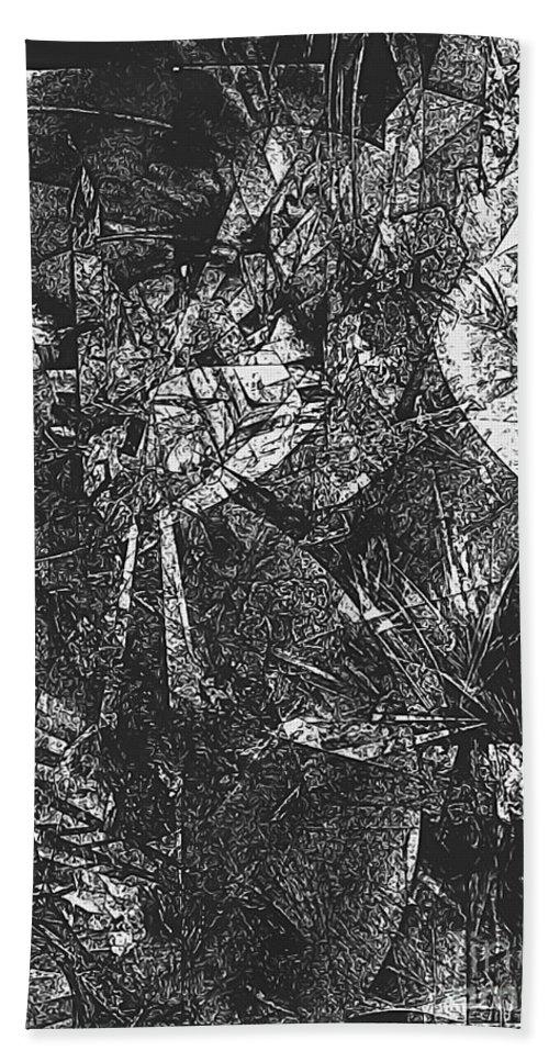Graphics Hand Towel featuring the digital art B-w 0522 by Marek Lutek