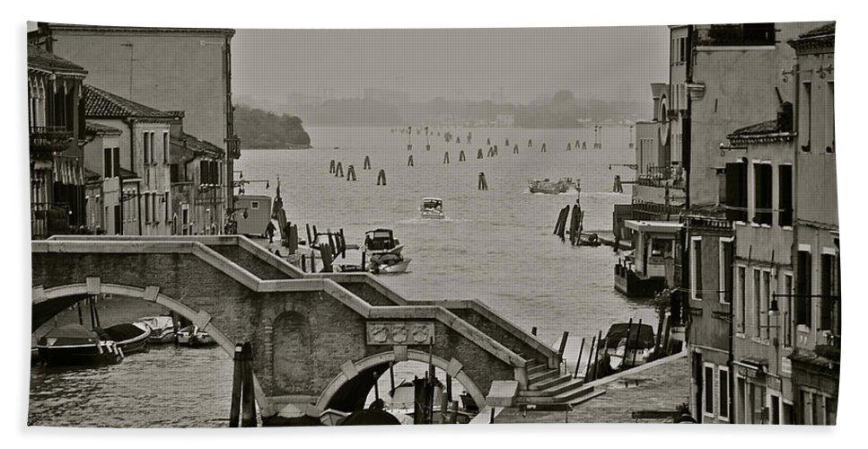 Venice Bath Sheet featuring the photograph Back Door Of Venice by Eric Tressler