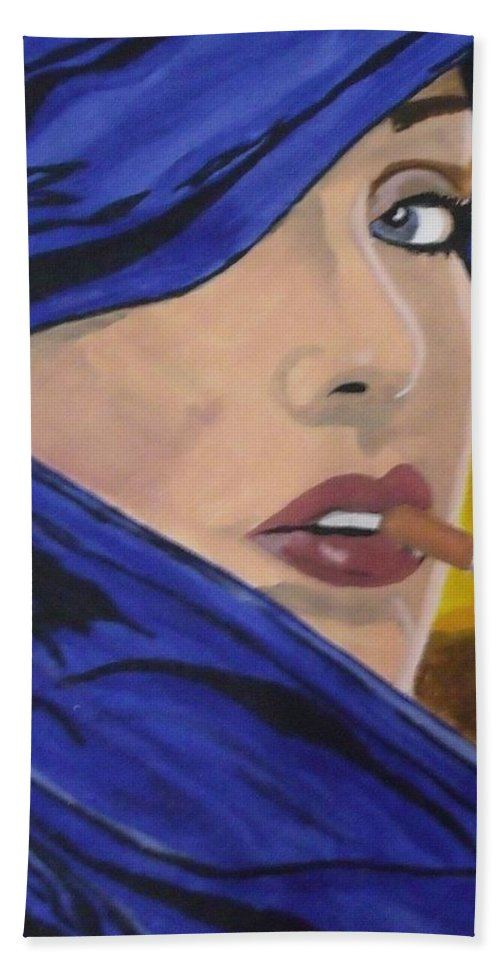Woman Hand Towel featuring the painting Back In The Day by Steve Cochran