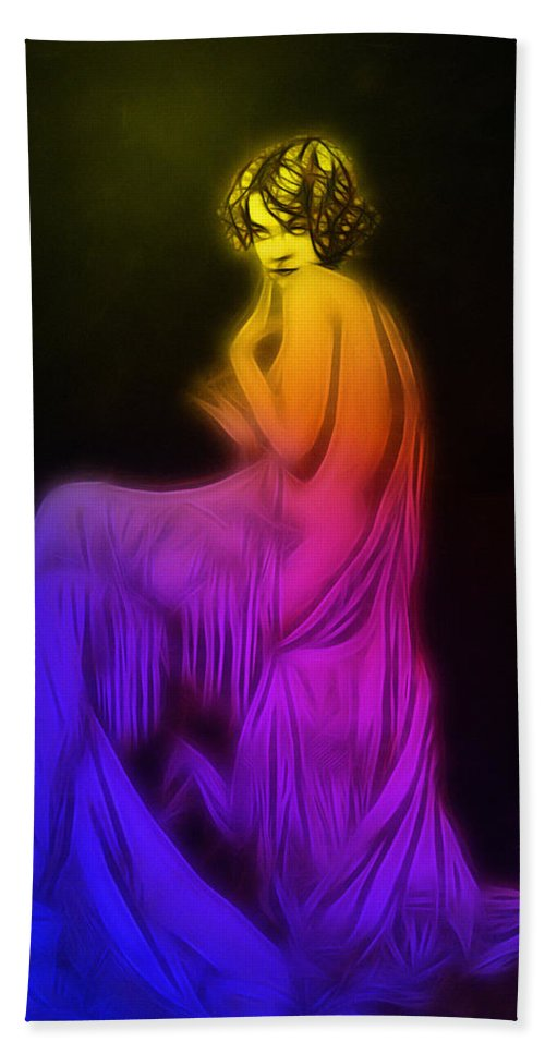 Hand Towel featuring the digital art Back To The Twenties Color by Steve K