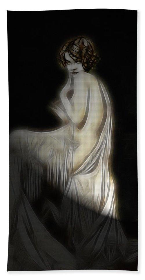 Hand Towel featuring the digital art Back To The Twenties by Steve K