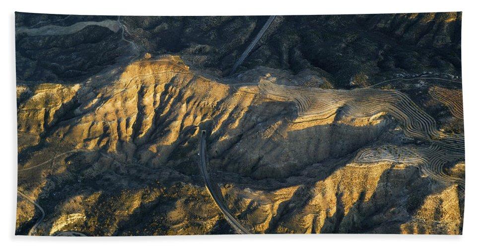 Train Bath Sheet featuring the photograph Bad Lands Granada Spain by Guido Montanes Castillo