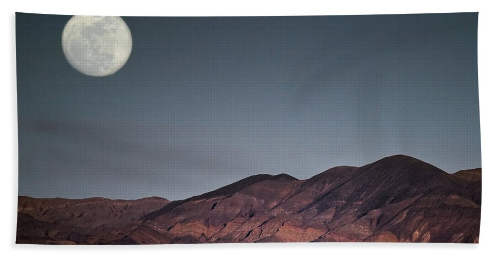 Bad Moon Rising Bath Sheet featuring the photograph Bad Moon Rising by Wes and Dotty Weber