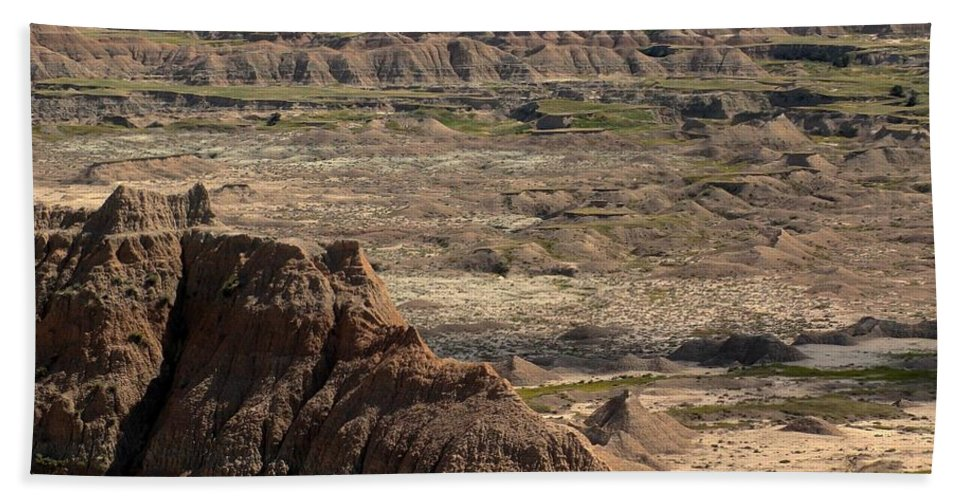Badlands Bath Sheet featuring the photograph Badlands by Living Color Photography Lorraine Lynch