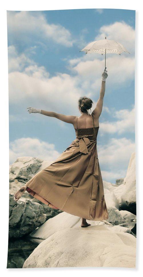 Female Bath Sheet featuring the photograph Balance by Joana Kruse