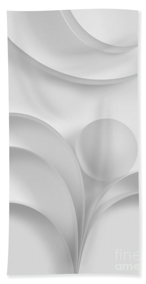 Ball Bath Towel featuring the photograph Ball And Curves 03 by Nailia Schwarz