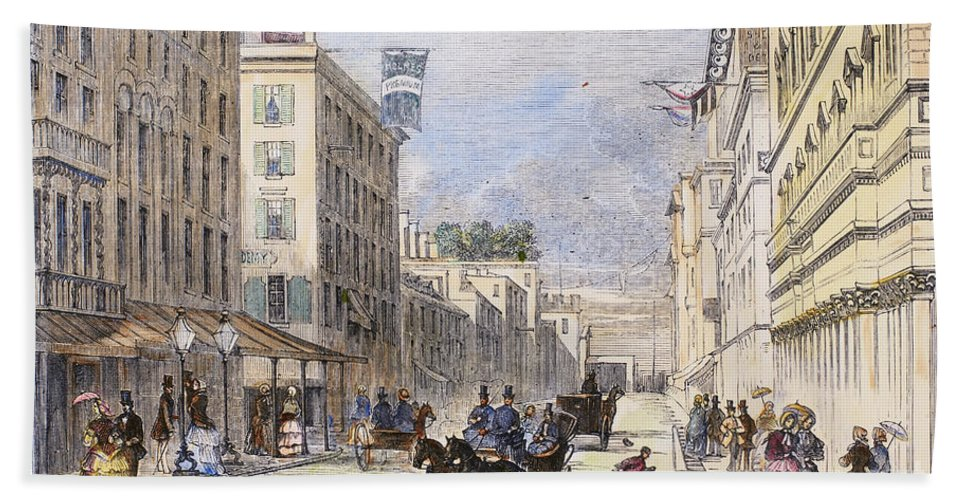 1856 Hand Towel featuring the photograph Baltimore, 1856 by Granger