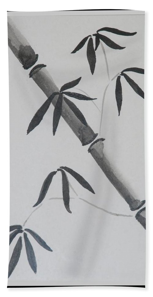 Bamboo Art Hand Towel featuring the photograph Bamboo Art by Rob Hans