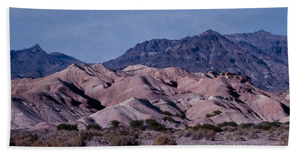 Mountains Bath Sheet featuring the photograph Banded Rocks by Stephen Whalen