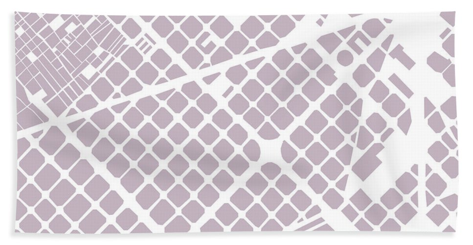 Barcelona Bath Sheet featuring the digital art Barcelona Fragment by Gytaute Akstinaite