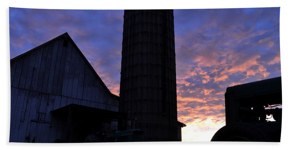 J.d. Grimes Hand Towel featuring the photograph Barnyard Sunrise IIi by JD Grimes