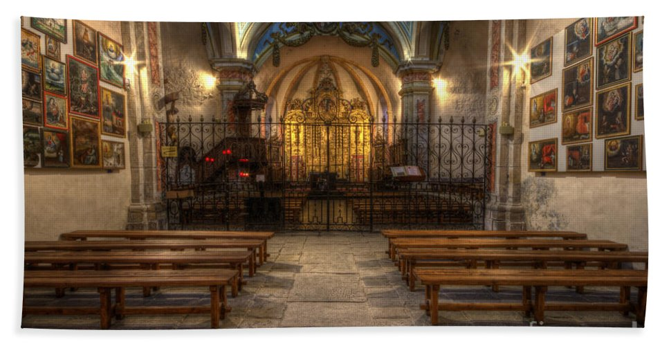 Clare Bambers Bath Sheet featuring the photograph Baroque Church In Savoire France 4 by Clare Bambers