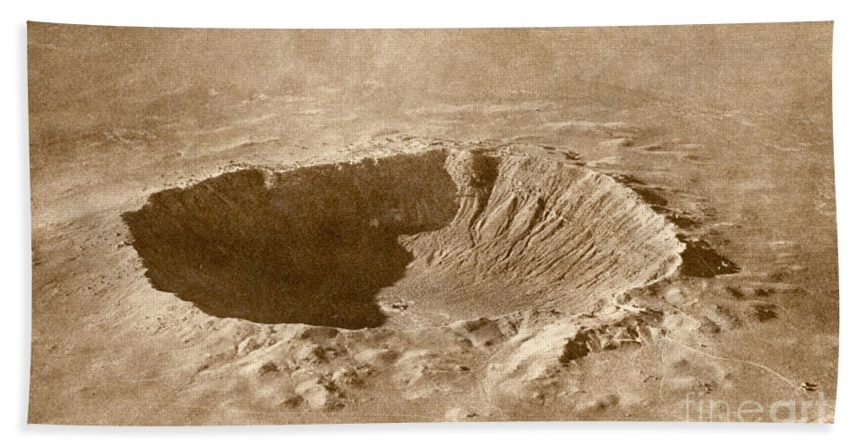 Meteor Crater Hand Towel featuring the photograph Barringer Crater by Science Source