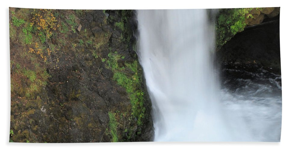 Umpqua Hand Towel featuring the photograph Base Of The Falls by Katie Wing Vigil