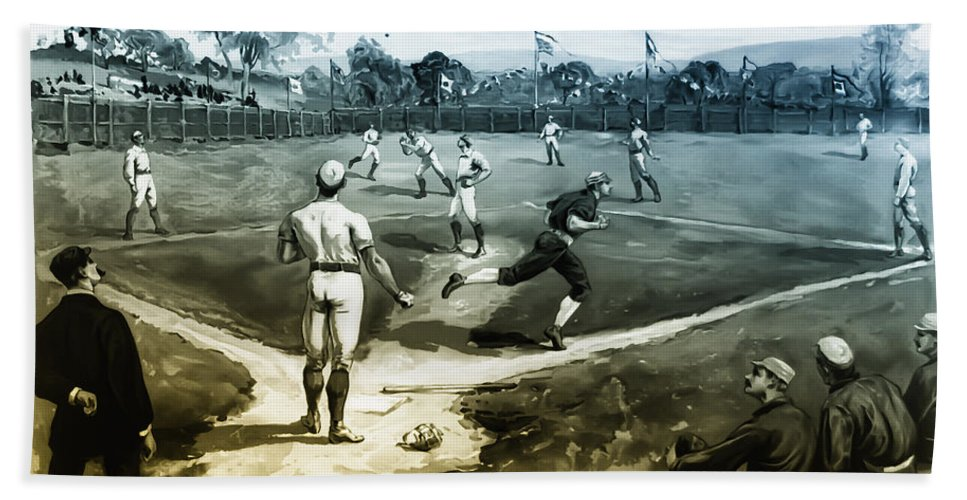 Baseball Hand Towel featuring the photograph Baseball by Bill Cannon