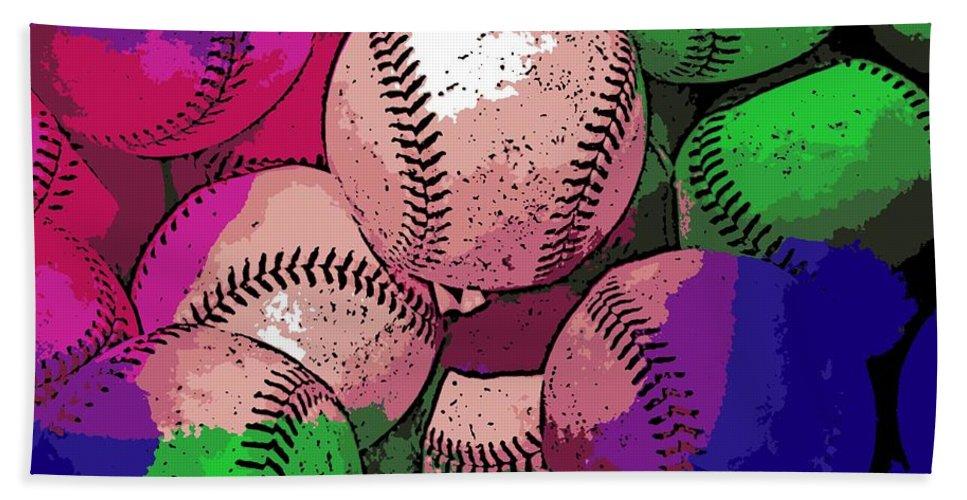 Baseball Bath Sheet featuring the photograph Baseball by George Pedro