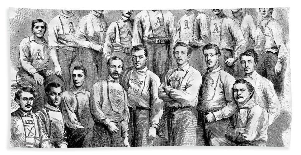 1866 Bath Sheet featuring the photograph Baseball Teams, 1866 by Granger