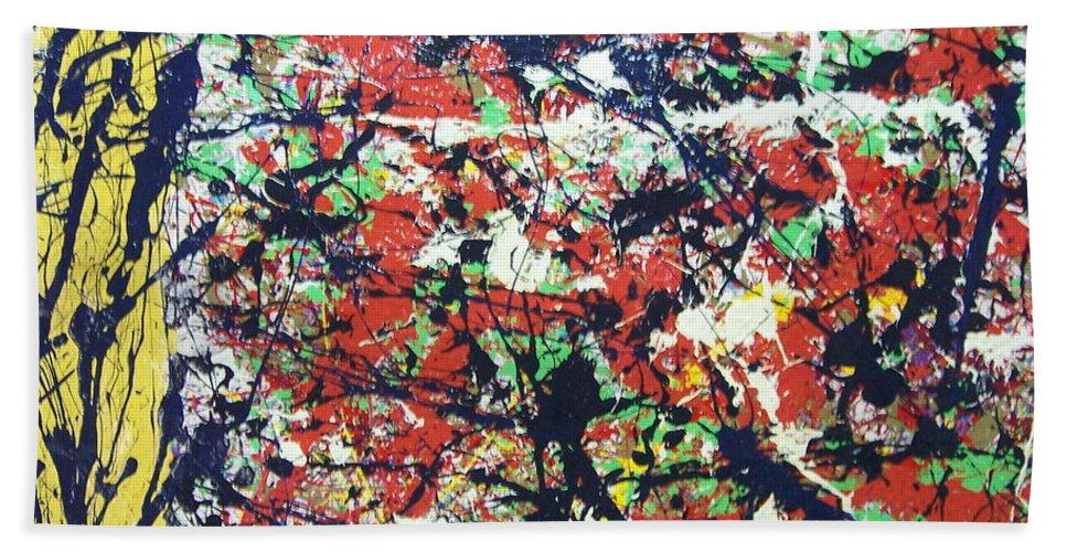 Spiritsape Bath Sheet featuring the painting Basin Street Bluescape by Meroe Rei