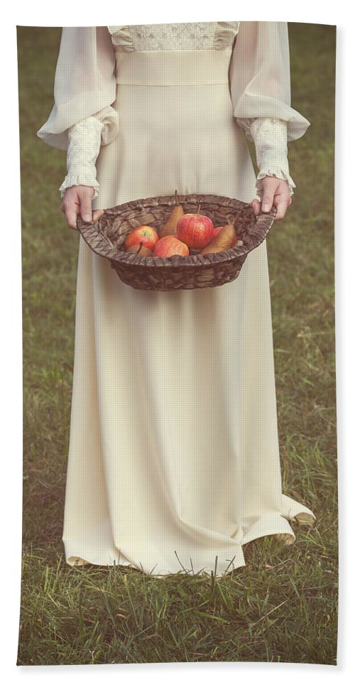 Woman Hand Towel featuring the photograph Basket With Fruits by Joana Kruse