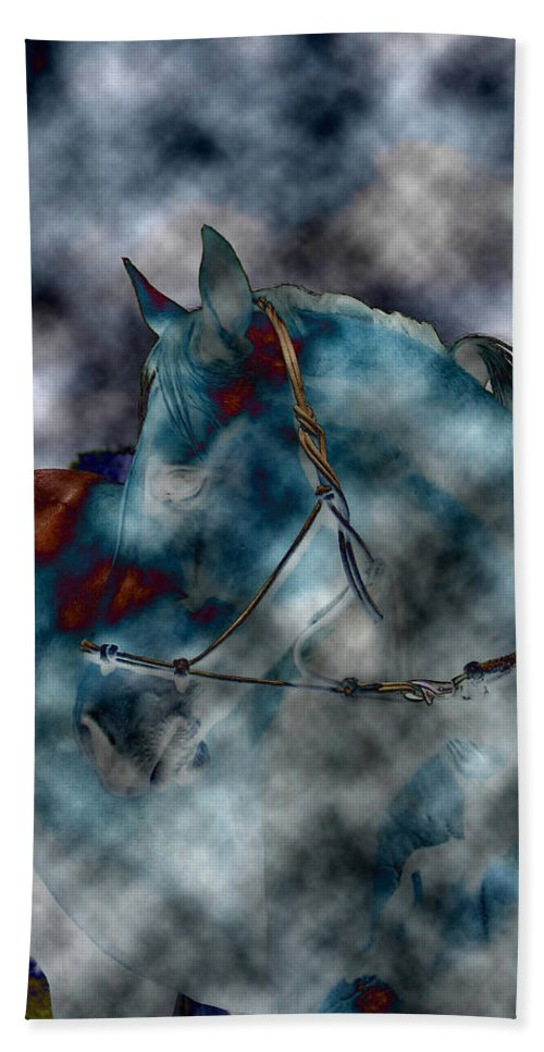 Battle Cloud Hand Towel featuring the photograph Battle Cloud - Horse Of War by Travis Truelove