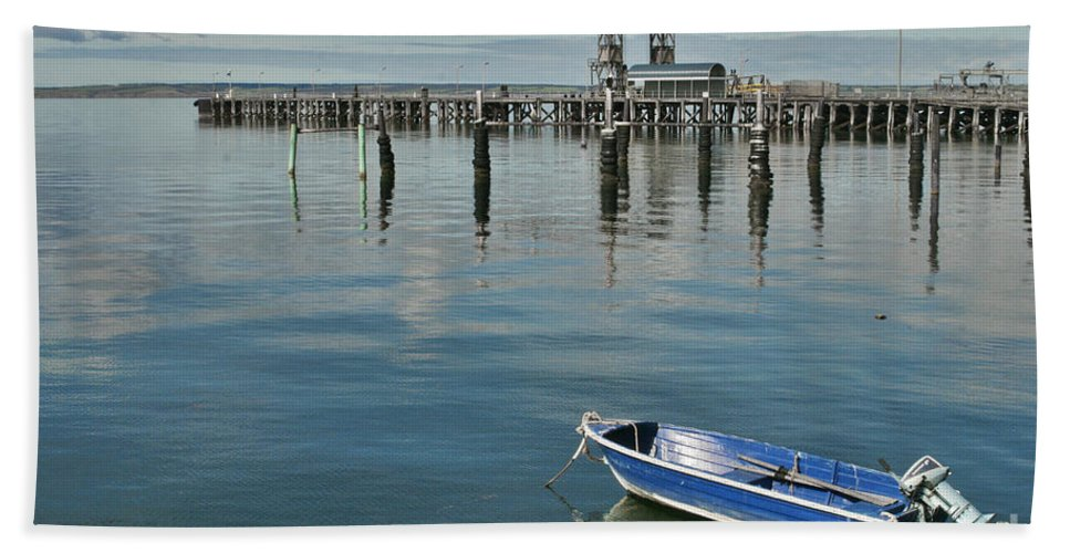 Boat Bath Sheet featuring the photograph Bay Of Whispers by Stephen Mitchell