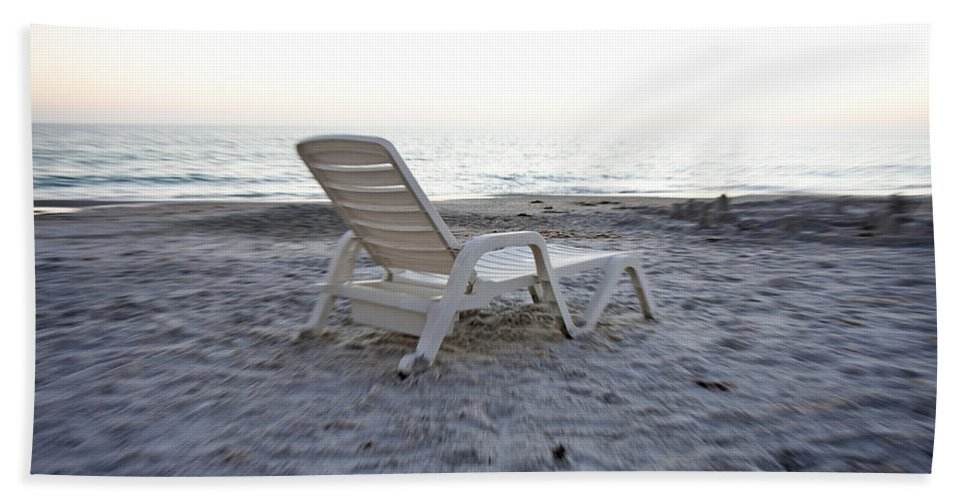 Longboat Bath Sheet featuring the photograph Beach Chair by Betsy Knapp