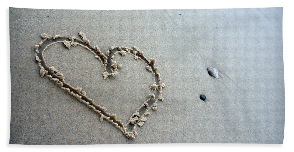 Beach Hand Towel featuring the photograph Beach Love by Kristen Cavanaugh