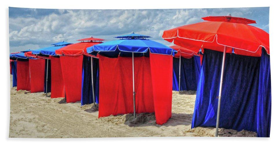 Beach Bath Sheet featuring the photograph Beach Umbrellas Nice France by Dave Mills