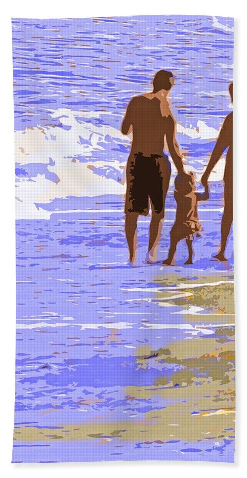 Couple Bath Sheet featuring the photograph Beachwalk by Ian MacDonald