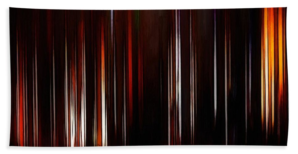 Beam Beams Light Lights Abstract Color Colorful Expressionism Impressionism Bath Sheet featuring the painting Beams by Steve K