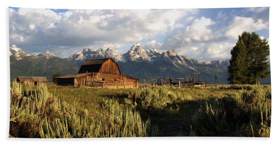 Mormon Row Barn Hand Towel featuring the photograph Beautiful Barn Grand Teton by Paul Cannon