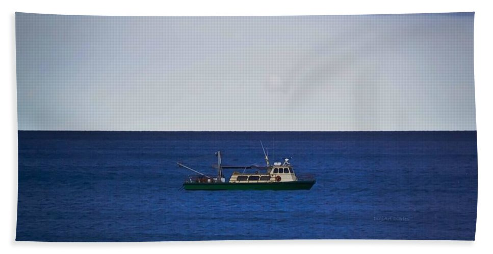 Ocean Bath Towel featuring the photograph Beautiful Day For Shrimping by DigiArt Diaries by Vicky B Fuller