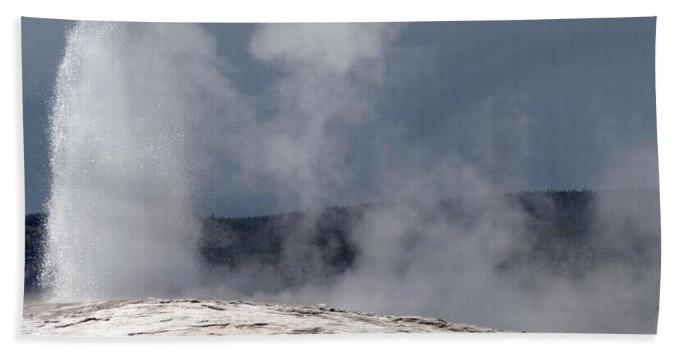 Old Faithful Hand Towel featuring the photograph Beautiful Old Faithful by Living Color Photography Lorraine Lynch