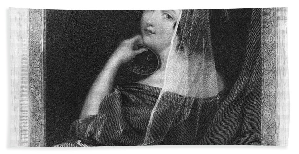 1842 Hand Towel featuring the photograph Beauty In Gondola, 1842 by Granger
