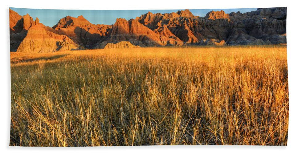 Badlands Bath Sheet featuring the photograph Beauty Of The Badlands by Bob Christopher