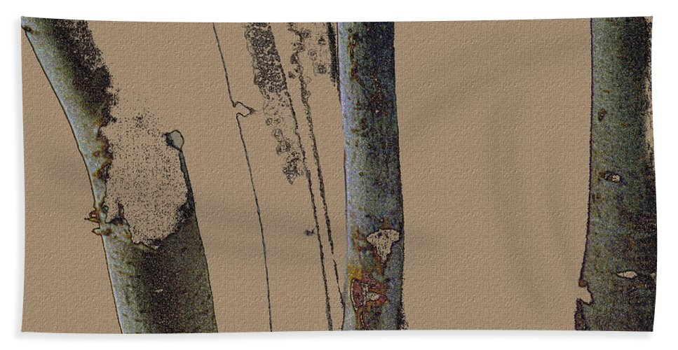 Trees Hand Towel featuring the digital art Beeches by Ron Jones