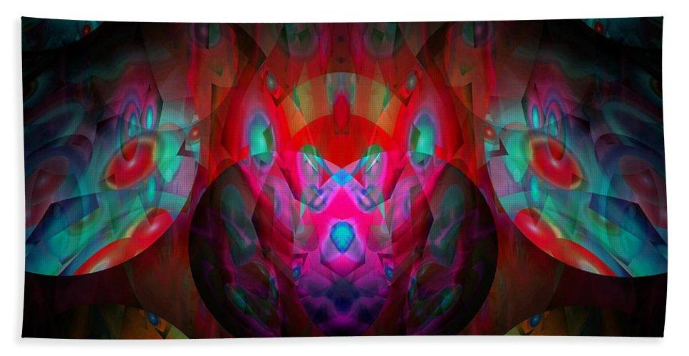 Colorful Bath Sheet featuring the digital art Behind The Eyes 3 by Lynda Lehmann