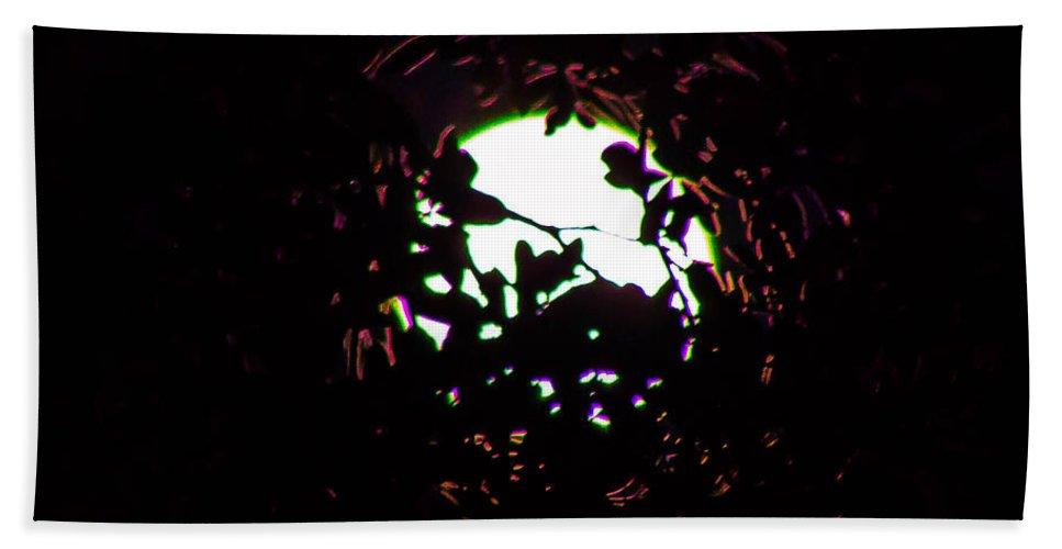 Moon Bath Sheet featuring the photograph Behind Tree by Shannon Harrington