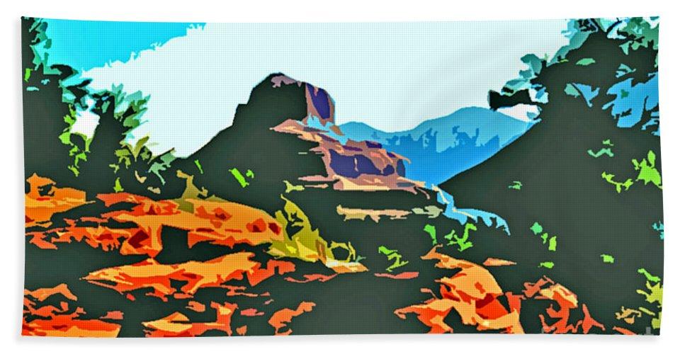 Bell Rock Hand Towel featuring the photograph Bell Rock Sedona Arizona by Jerome Stumphauzer