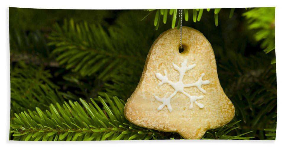 Advent Bath Sheet featuring the photograph Bell Shape Short Bread Cookie by U Schade