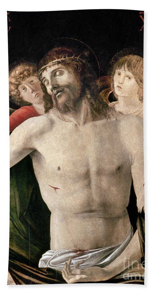 Angel Hand Towel featuring the photograph Bellini: Pieta by Granger
