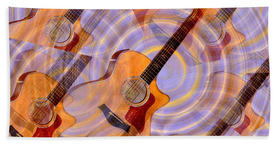 Guitar Bath Sheet featuring the photograph Bending Time And Space by Bill Cannon