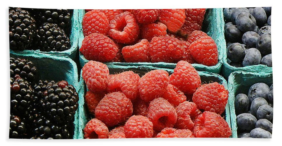 Berry Hand Towel featuring the photograph Berry Baskets by Jim And Emily Bush