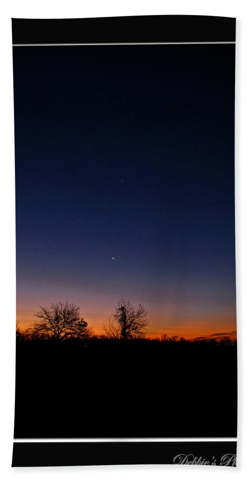 Landscape Bath Sheet featuring the photograph Between Night And Day by Debbie Portwood
